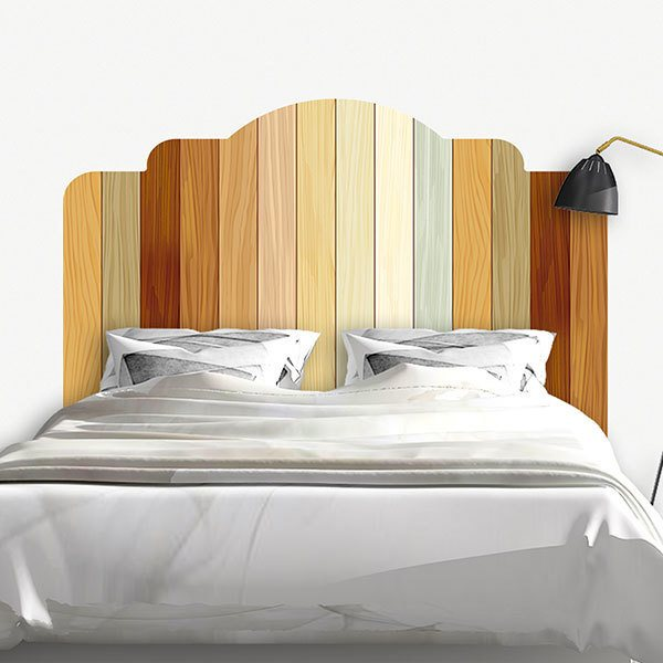 Wall Stickers: Bed Headboard Wooden boards
