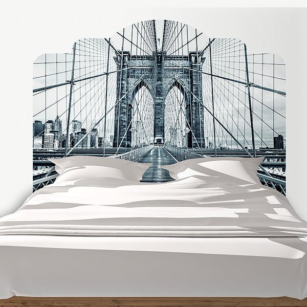 Wall Stickers: Bed Headboard Puente de Brooklyn