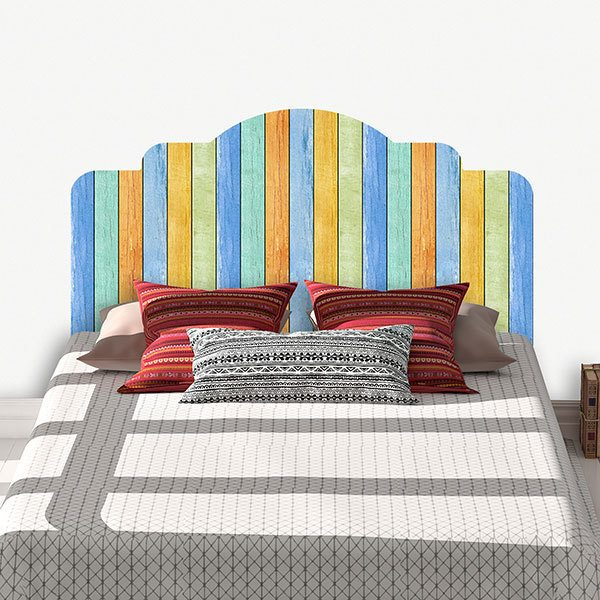 Wall Stickers: Bed Headboard Vintage wood