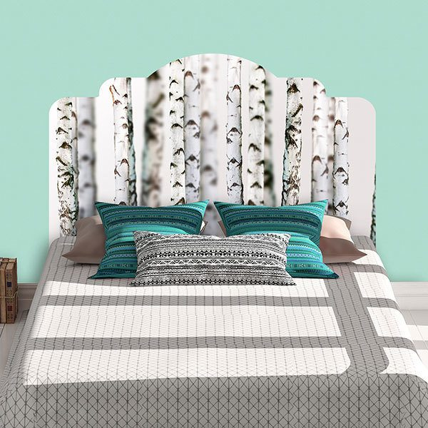 Wall Stickers: Bed Headboard Birch forest