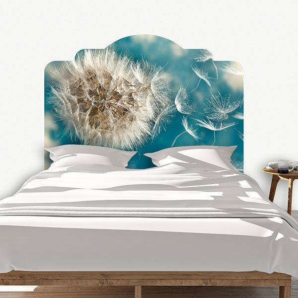 Wall Stickers: Bed Headboard Dandelion