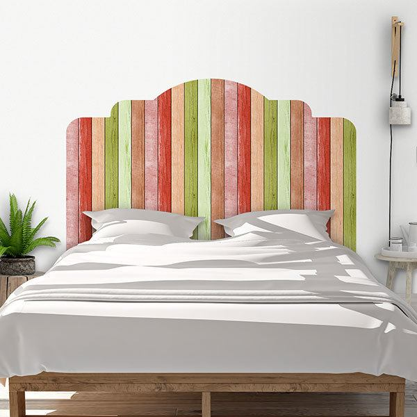 Wall Stickers: Bed Headboard Polychrome wood