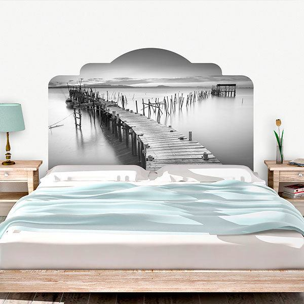 Wall Stickers: Bed Headboard Old wharf