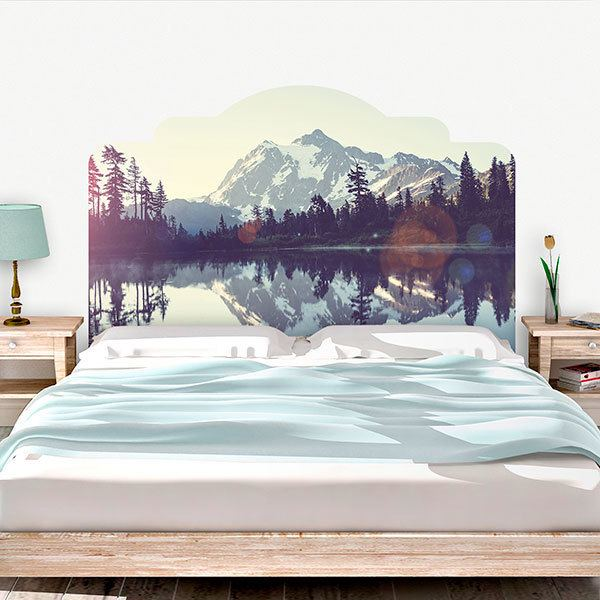 Wall Stickers: Bed Headboard Landscape of the Pyrenees