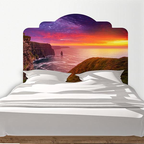 Wall Stickers: Bed Headboard Irish Cliffs