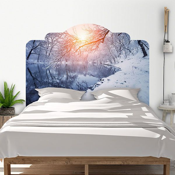 Wall Stickers: Bed Headboard Snowy dawn