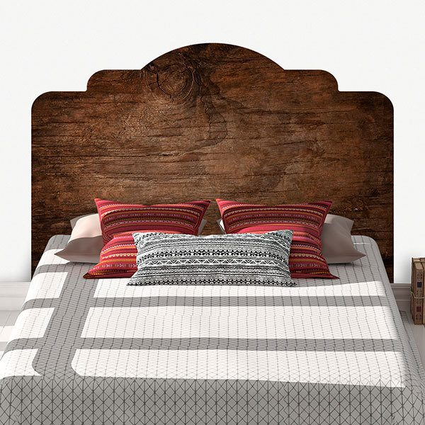 Wall Stickers: Bed Headboard Old oak