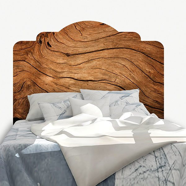 Wall Stickers: Bed Headboard Rustic wood