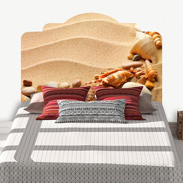 Wall Stickers: Bed Headboard Shells on the beach