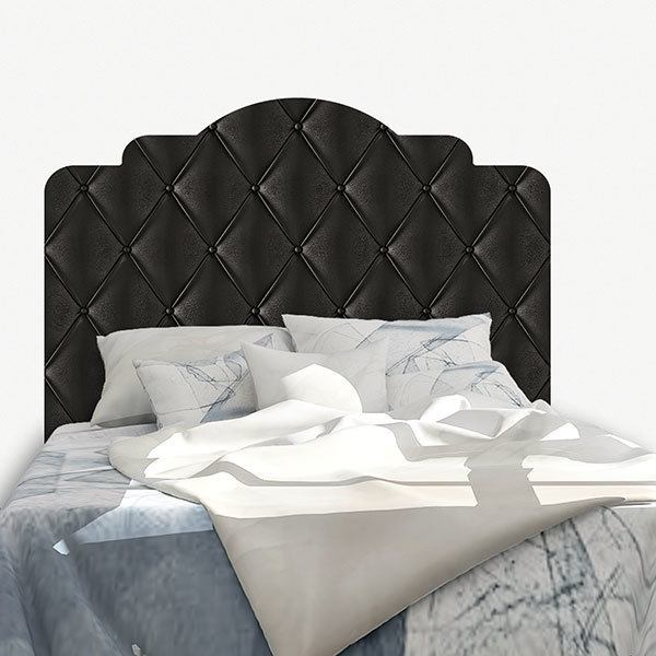 Wall Stickers: Bed Headboard Black upholstery