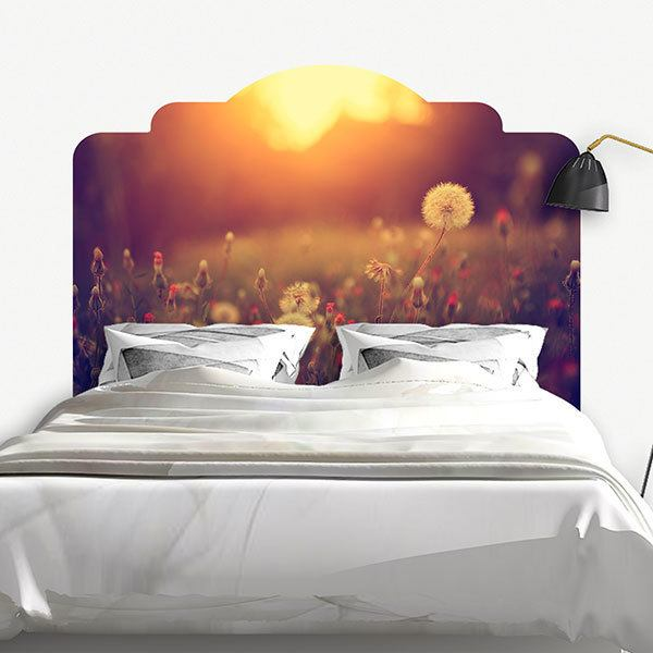 Wall Stickers: Bed Headboard Nature