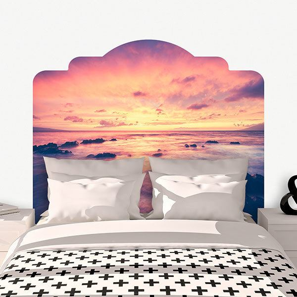 Wall Stickers: Bed Headboard Fantastic sunset