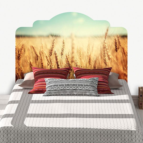 Wall Stickers: Bed Headboard Wheat field