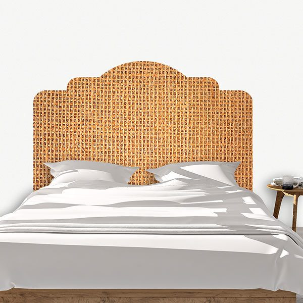 Wall Stickers: Bed Headboard Rustic fabric