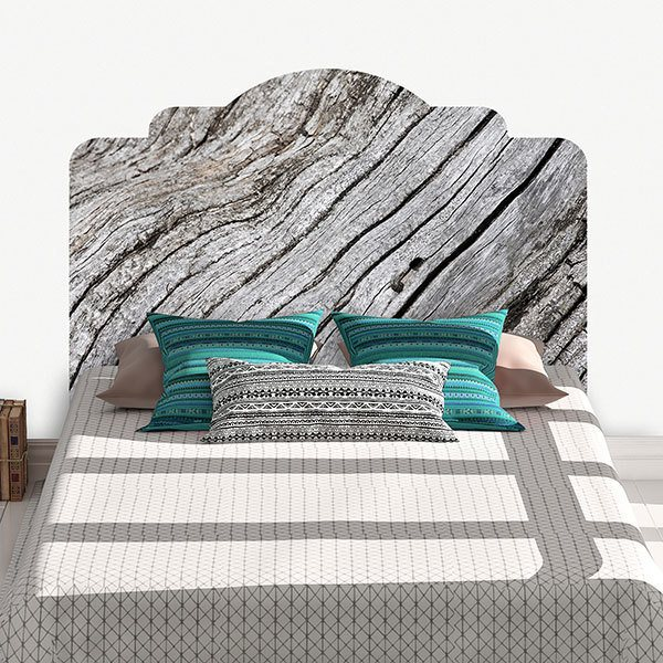 Wall Stickers: Bed Headboard Dry wood