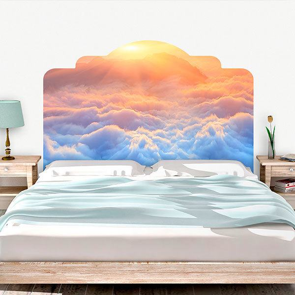 Wall Stickers: Bed Headboard Clouds of Olympus