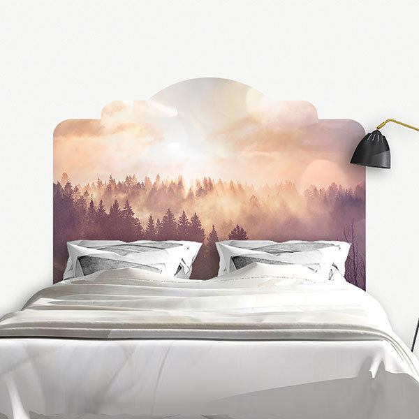 Wall Stickers: Bed Headboard Legendary forest