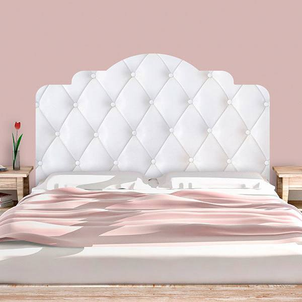 Wall Stickers: Bed Headboard White upholstery