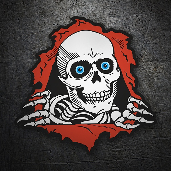 Car & Motorbike Stickers: Skeleton comes out