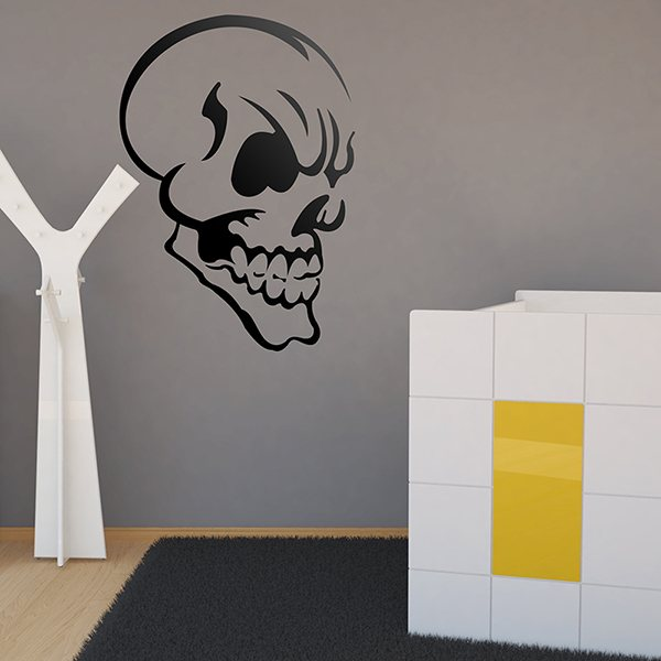 Wall Stickers: Malevolent skull