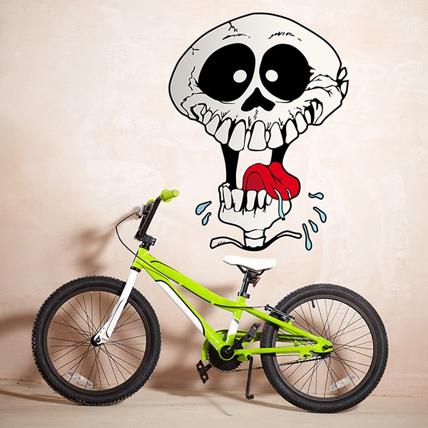 Wall Stickers: Skull tongue out
