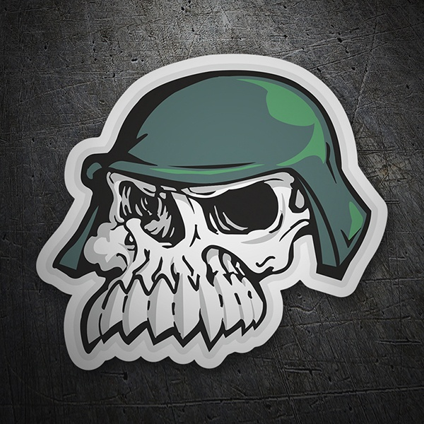 Car & Motorbike Stickers: Skull with helmet