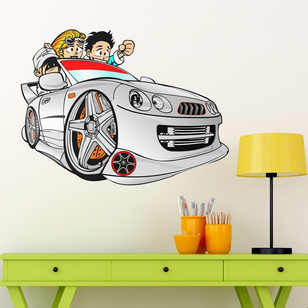 Stickers for Kids: Cartoon Car