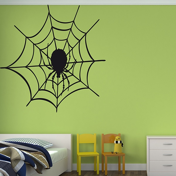 Wall Stickers: Spider in its web