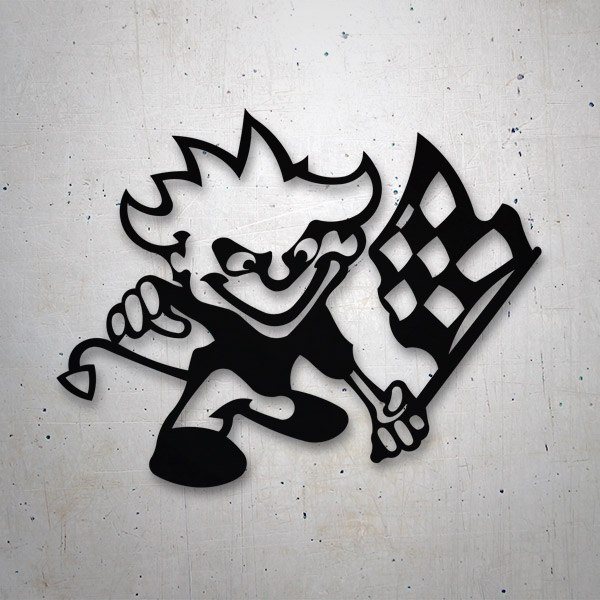 Car & Motorbike Stickers: Racing Devil