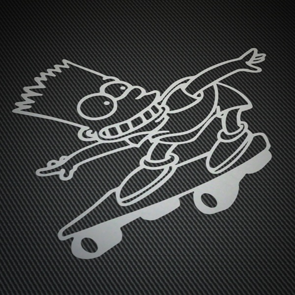 Car & Motorbike Stickers: Bart Skate