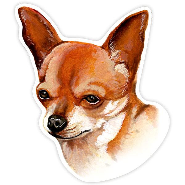 Car and Motorbike Stickers: Smooth Chihuahua