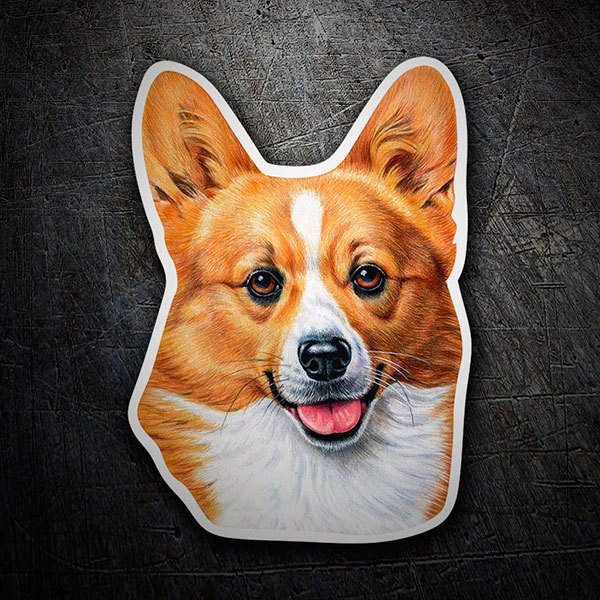 Car & Motorbike Stickers: Welsh Corgi