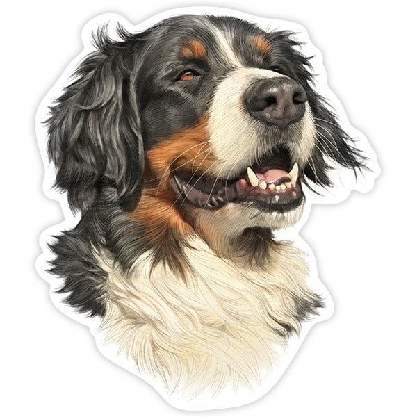 Car and Motorbike Stickers: Bernese Mountain Dog