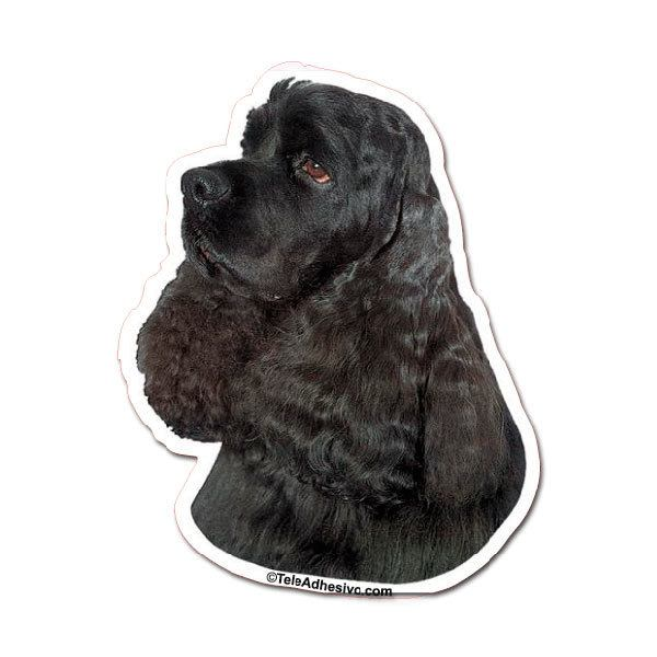 Car and Motorbike Stickers: Black Cocker Spaniel