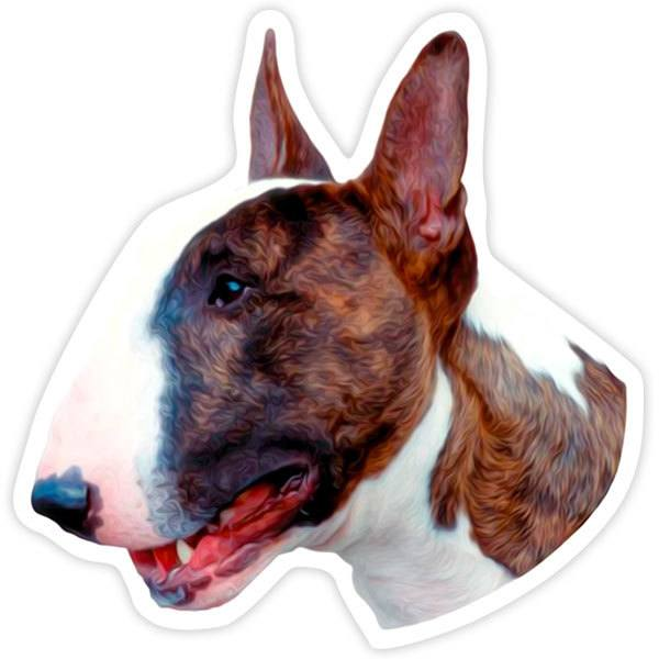 Car and Motorbike Stickers: Bull Terrier