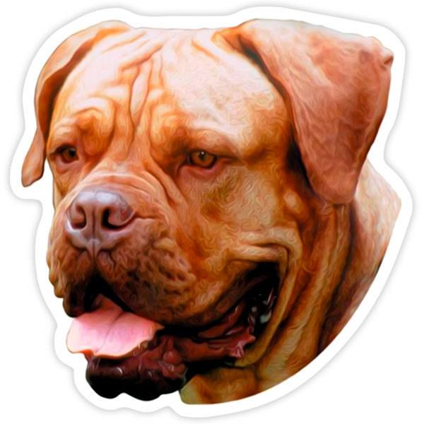 Car and Motorbike Stickers: Dogue De Bordeaux