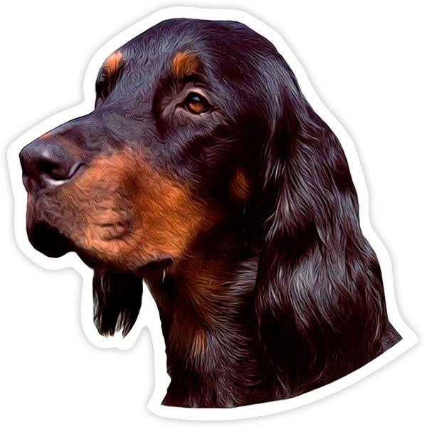Car and Motorbike Stickers: Gordon Setter