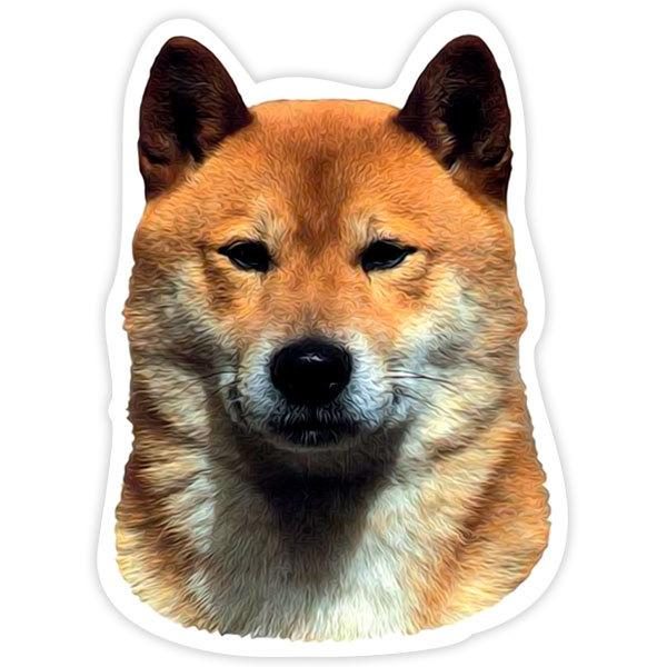 Car and Motorbike Stickers: Shiba Inu