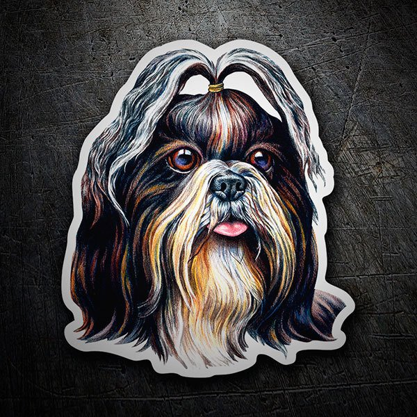 Car & Motorbike Stickers: Shih Tzu