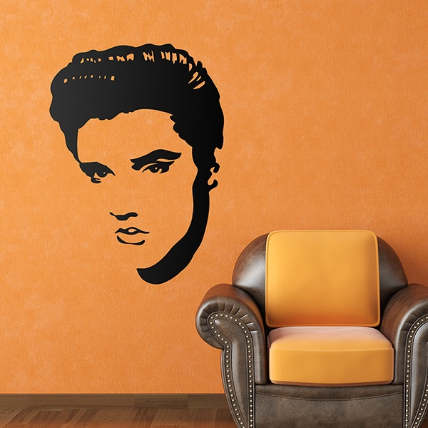 Wall Stickers: Elvis Presley Face