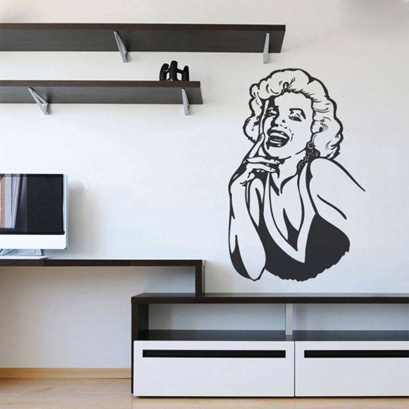 Wall Stickers: Marilyn laugh