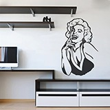 Wall Stickers: Marilyn laugh 2