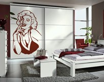 Wall Stickers: Marilyn laugh 3