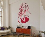 Wall Stickers: Marilyn laugh 5
