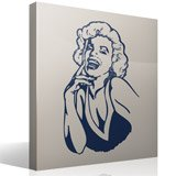 Wall Stickers: Marilyn laugh 6