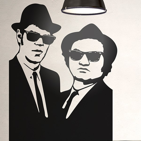 Wall Stickers: Blues Brothers, waifs to any pace