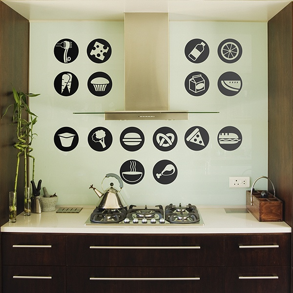 Wall Stickers: Foods Pictograms