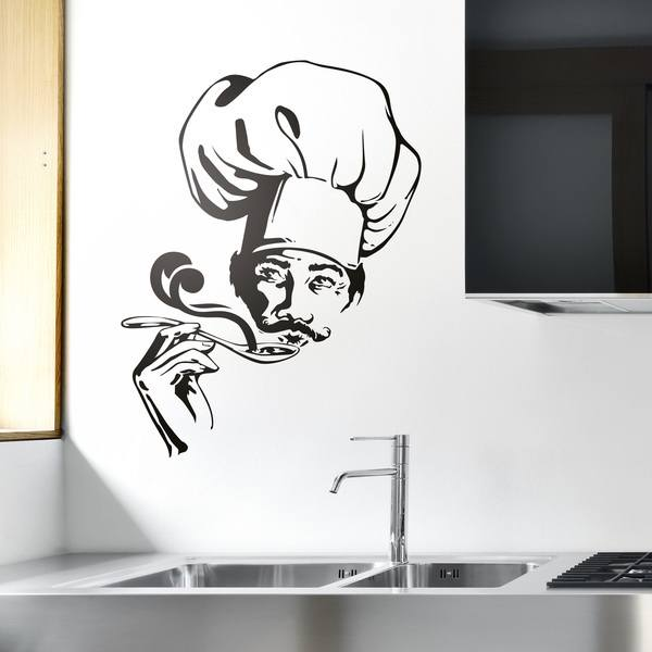 Wall Stickers: Chef testing soup