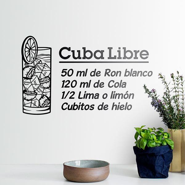 Wall Stickers: Cocktail Cuba Libre - spanish