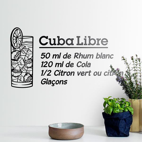 Wall Stickers: Cocktail Cuba Libre - french 0